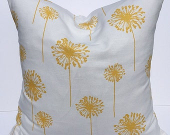Throw pillow, accent pillow, decorative throw pillow cover, gold pillow, floral pillow, gold pillow cover, couch pillow cover, home decor