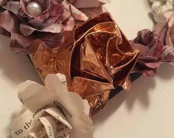 Metallic Paper Flower Letter