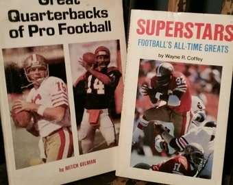 Vintage From The 1980s 2 Softcover Football Books/Pro Football Fact Books/Teenager Books