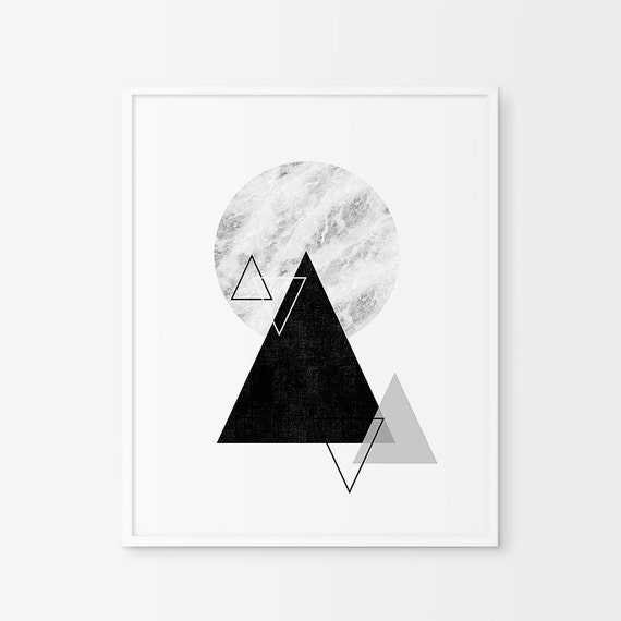 Geometric Triangle Wall Art Prints Geometric Art Geometric