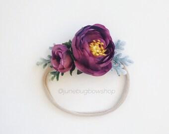 PURPLE petite flower crown