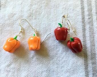 Bell Pepper earrings!