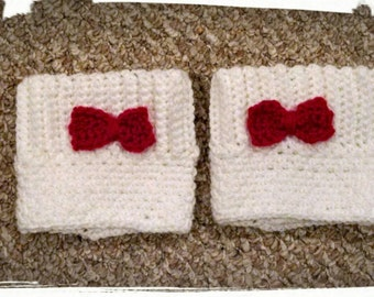 Women's Boot Cuffs, Bowties are Cool