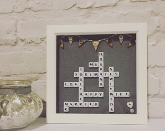 Wedding Scrabble Frame