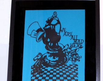 Alice In Wonderland Inspired Paper Cut Out