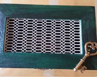 Green/Black Ombre Jewellery Box