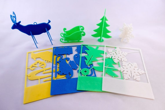 3D Printed Christmas Card Ornaments