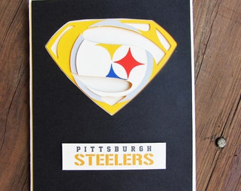 Pittsburgh Steelers Card - Super Steelers Fan, Football Team Card