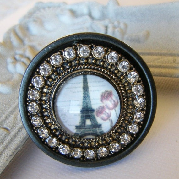 RESERVED FOR NETTIE - Eiffel Tower Collection Jeweled Drawer Pulls ...