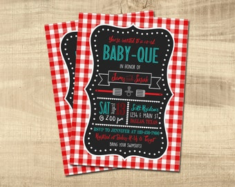 babyque shower invitation couples shower bbq baby shower