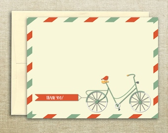 Bicycle Bird Thank You Card
