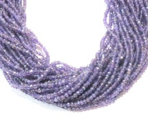 """Natural Purple Amethyst Faceted Rondelle stone beads Semi precious Gemstone Bead Strand 13"""" loose Healing Crystals Jewelry craft necklace"""