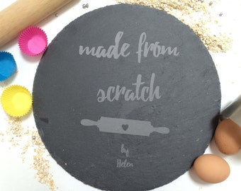 Cake Stand Personalised Slate Cupcake Plate