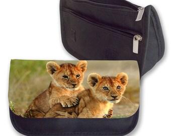 Lion cubs Pencil case / Make up bag