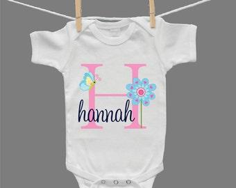 Personalized Infant Girl Baby Girl Baby Bodysuit