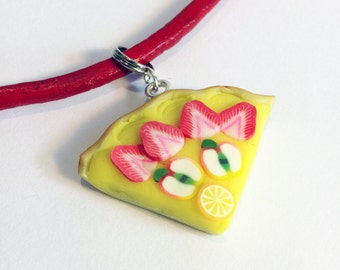 Mini Jewellery Making Kit - Fruit Tart Necklace Kit – Party Bag Filler - DIY Craft Kit