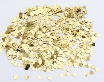 Gold Hearts - Wedding Table Confetti