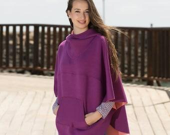 LUNA cape / poncho pattern, sizes 158 - women size 46 (Kids M - women XL)  / Instant Download