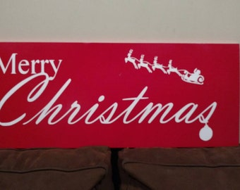 Christmas Decoration Wood Sign Wall Decor Wall Hanging Art