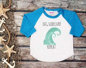 Kid's Surf Shirt;Eat Sleep Surf Repeat;Surf Shirt Kids;Kid's Beach Shirt;Hipster Kids Tee;Trendy Toddler Tee;Adventure Tee;Baby Boy/Girl Tee