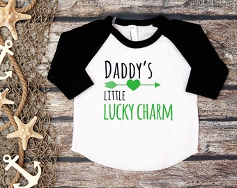 Kid's St. Patrick's Tee;Daddy's Little Lucky Charm Shirt;St. Patty's Day Shirt Kids;Happy St. Patrick's Day;First St. Patrick's Day Shirt;