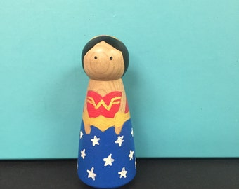 DIY Paint Your Own Wonder Woman Peg Doll Kit