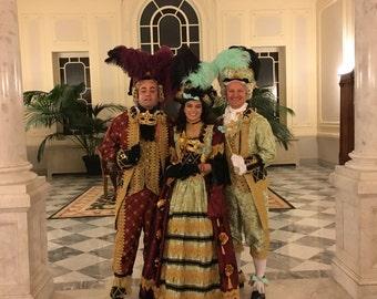 Couture Venetian Carniavle-Mardi Gras-Masked Ball-Marie Antoinette-Haloween Costume