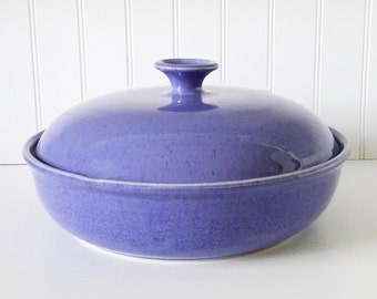 pottery covered casserole, oven safe serving dish, ceramic casserole, covered vegetable serving dish, covered gratin,handmade pottery