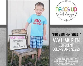 Big Brother Toddler Shirt - Big Brother Boy tshirt - New Sibling Annoucement Big Brother Tee - Trendy Boy Big Bro t shirt - New Baby -