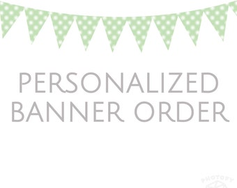 Personalized Bunting Banner - Personalized Fabric Bunting Banner for Nursery, Baby Shower, Birthday, First Birthday, Photo Prop, Kid's Room