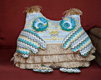 Handmade Custom Owl Pillow