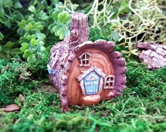 Miniature Teeny Fairy Log House
