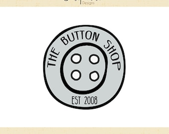 Premade Logo & Watermark // The Button Shop // Handmade Business // Solipandi Design Studio // #010