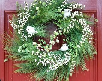 White Birds Wreaths