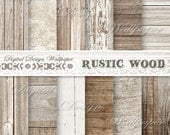 COMMERCIAL USE,Wood Digital Paper, Rustic Wood Digital Paper, Rustic Wood Texture, Distressed Wood, Digital Wood Background,White Wood