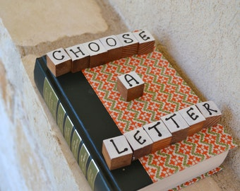 Readers Digest Book Letter-Red and Green