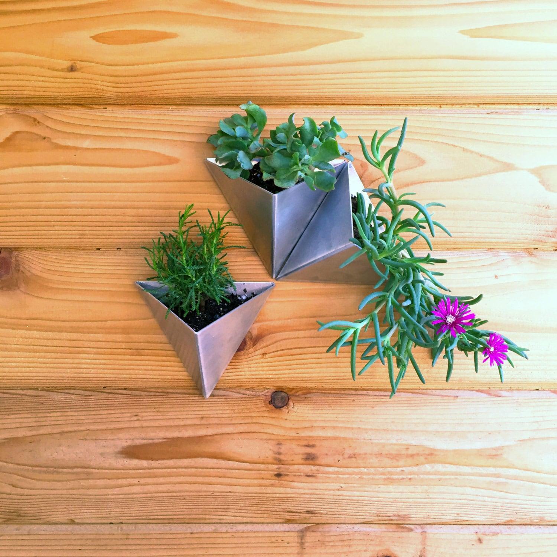 Tessellations Set Of 3 Modern Wall Planter By Methodmfg