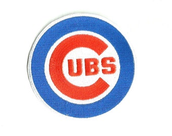 "Chicago Cubs * 3.5"" inch * Embroidered * Iron / Sew on * Applique / Patch * FREE SHIPPING *"