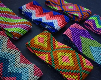 Capri Funky Beaded Velcro Cuff