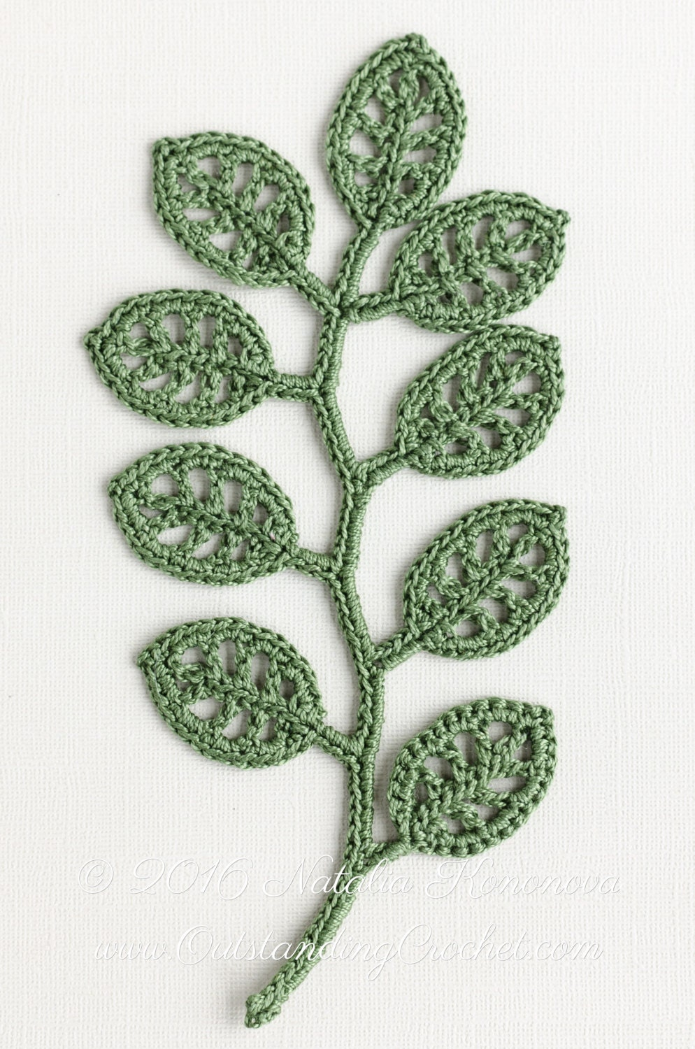 Free Irish Crochet Leaf Pattern ~ Dancox for .