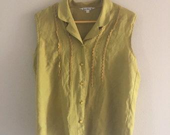 Silk Mustard Blouse