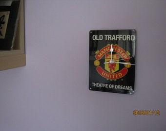 Manchester United Old Trafford Metal Enamel Wall Clock