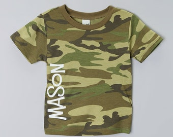 Kids Camo T-Shirt, Personalized Camo Kids Tee - All sizes