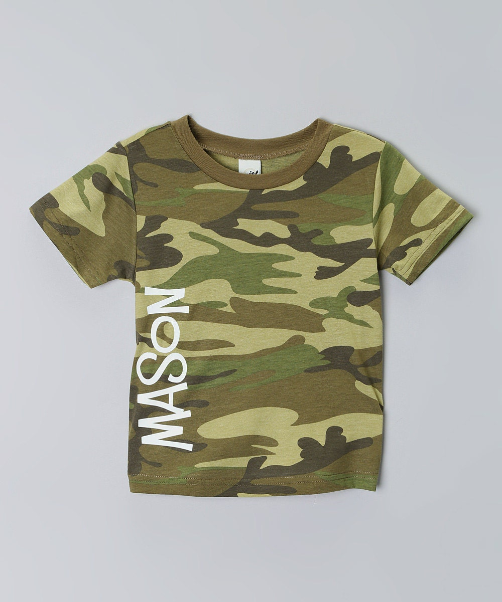 kids camo t shirt personalized camo kids tee all sizes