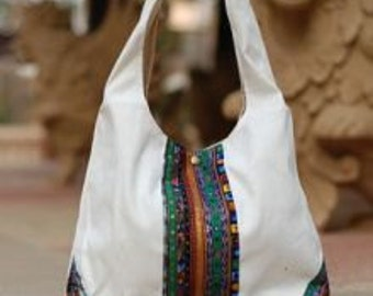 Bag white / mosaic