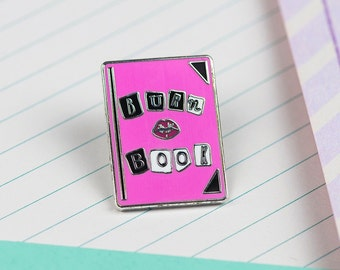 Burn Book Enamel Pin // Mean girls pin, lapel pin, hard enamel pin, film pin