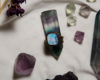 Men's Opalite Copper Electroformed Ring