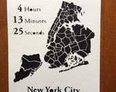 Personalized New York City Paper Cut Map - Custom Paper Map Art Gift for Runners