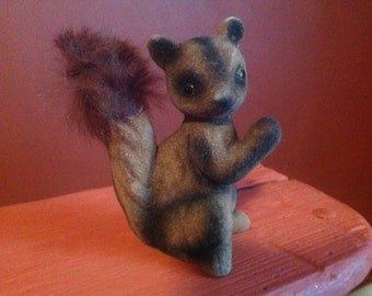 Flocked Fuzzy Squirrel Made in Japan