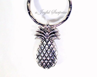 SALE - Pineapple Keychain, Pineapple Key Chain, Pineapple Charm Keyring Silver Pineapple Jewelry Fruit Key Chain, Pewter Pineapple Gift 199